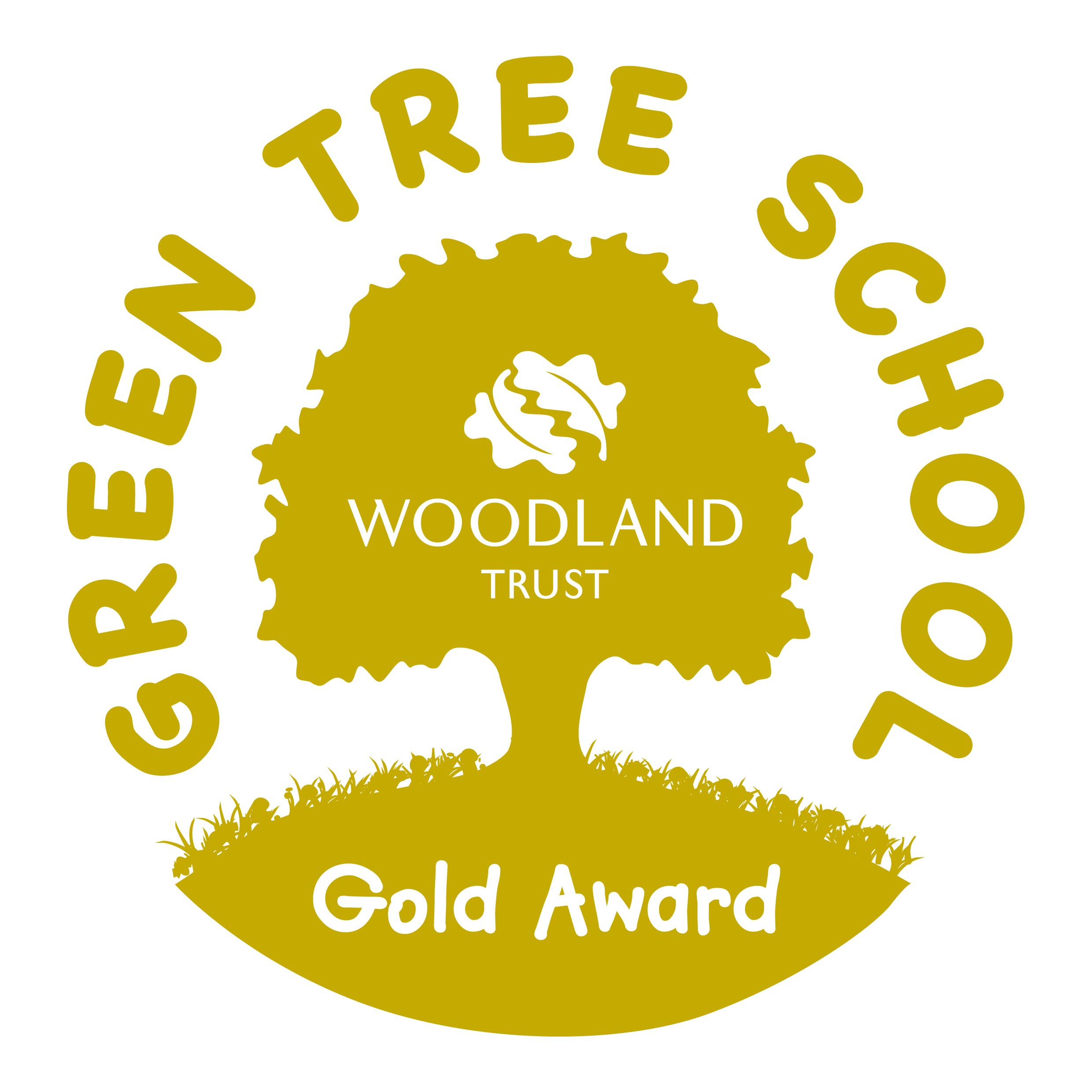 Green tree gold logo
